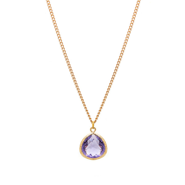 gemma bridesmaid necklace amethyst millesime