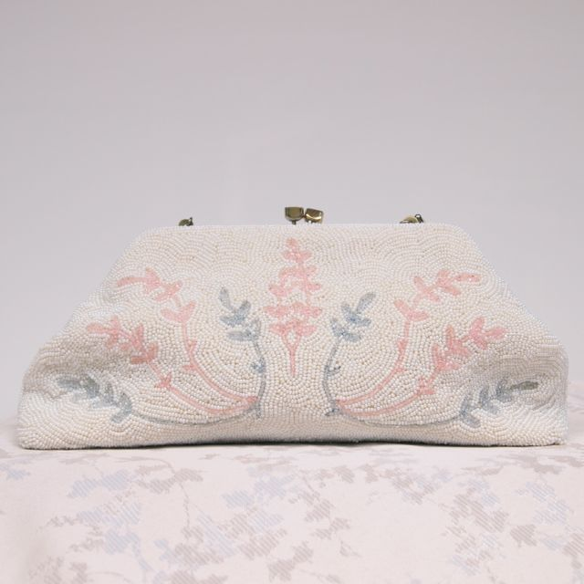 fbbf86901562 1940 s Beaded Vintage Bridal Clutch Bag No.127