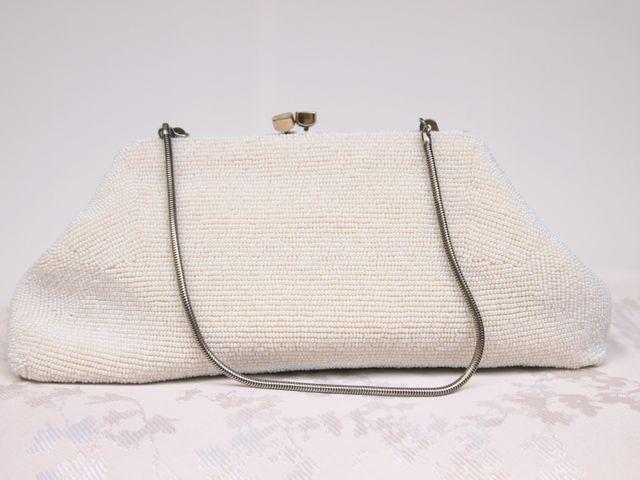1940u0026#39;s Beaded Vintage Bridal Clutch Bag No.127