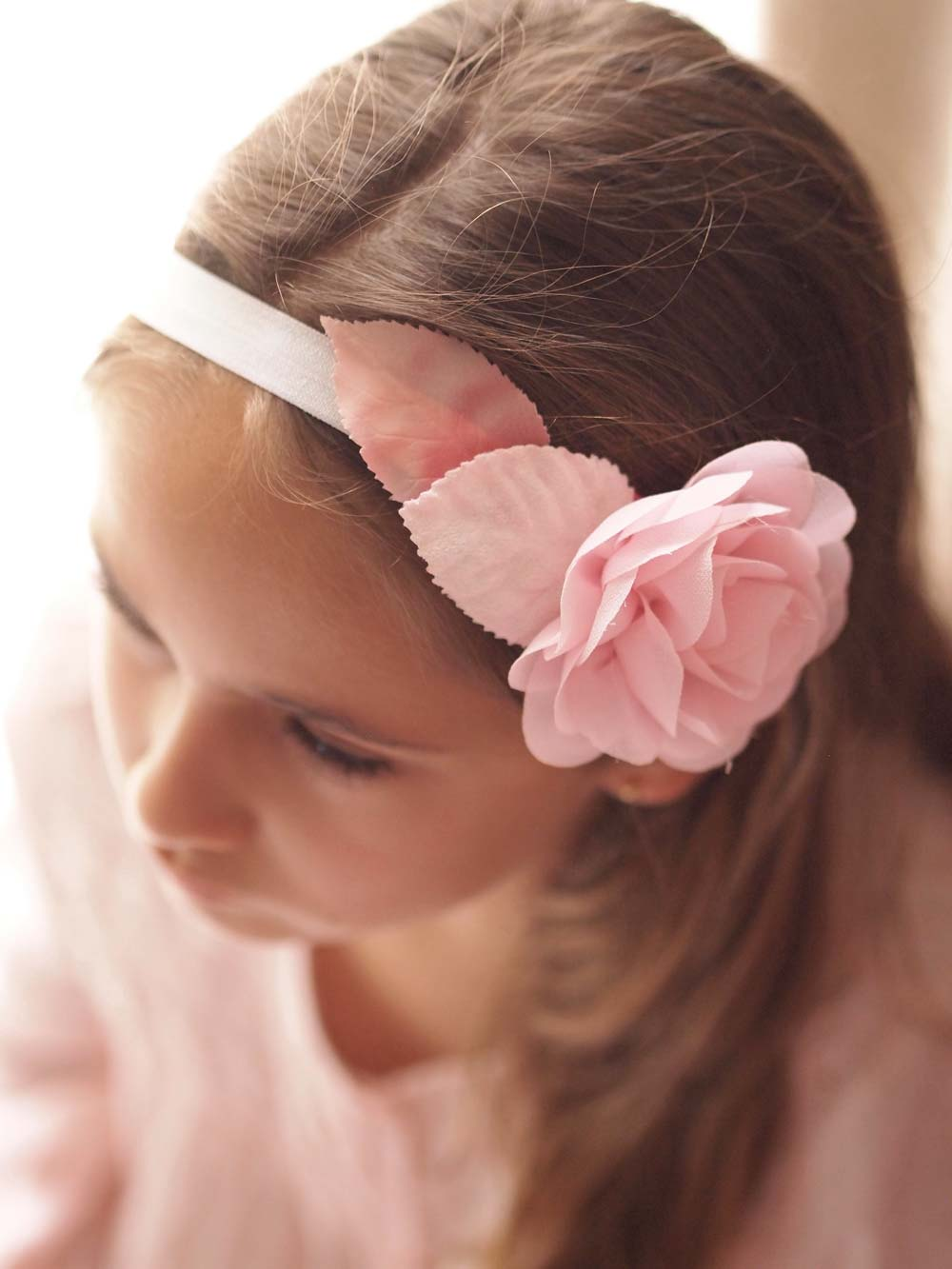 8657a312 Georgia Blush Pink Baby and Girls Headband - Victoria Millesime