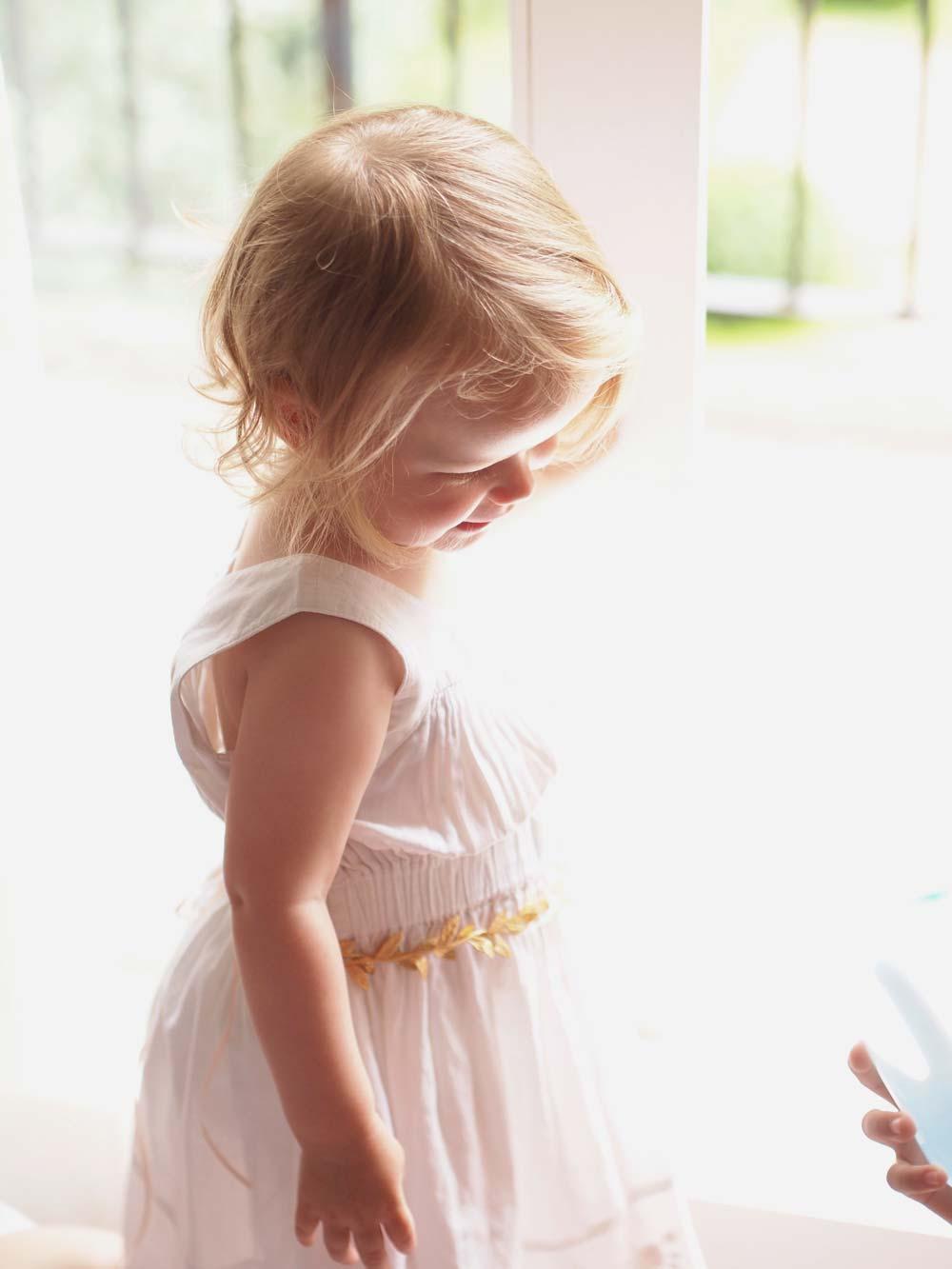 9c2624a5a4d Greta Flower Girl Gold Boho Laurel Leaf Sash - Victoria Millesime