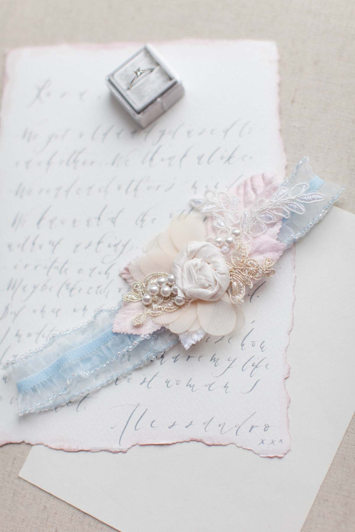Image result for forget me not garter