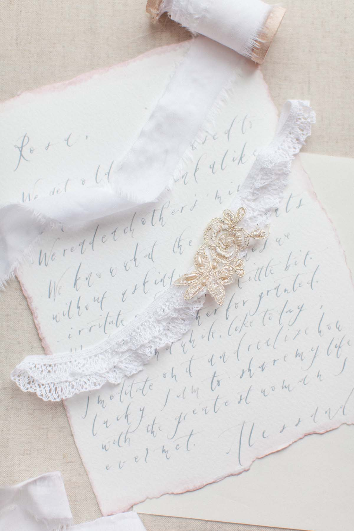 2d10dbdb387 Ivory French Lace Wedding Garter - Victoria Millesime