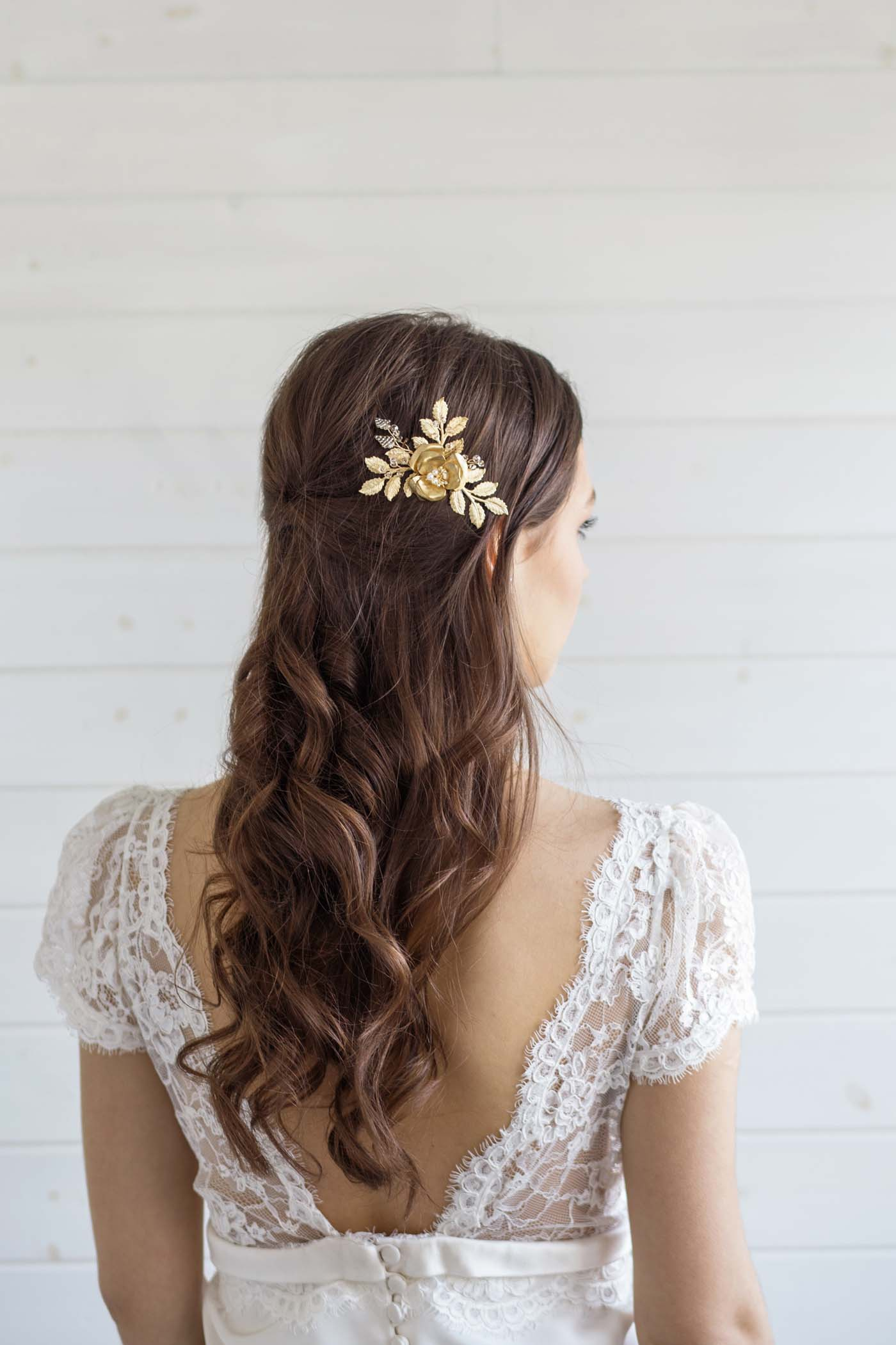 Carrie Rose Wedding Hair Comb Victoria Millesime