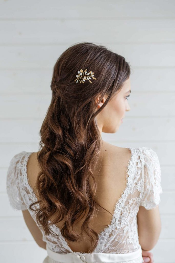 Delphinium Bridal Hair Pin