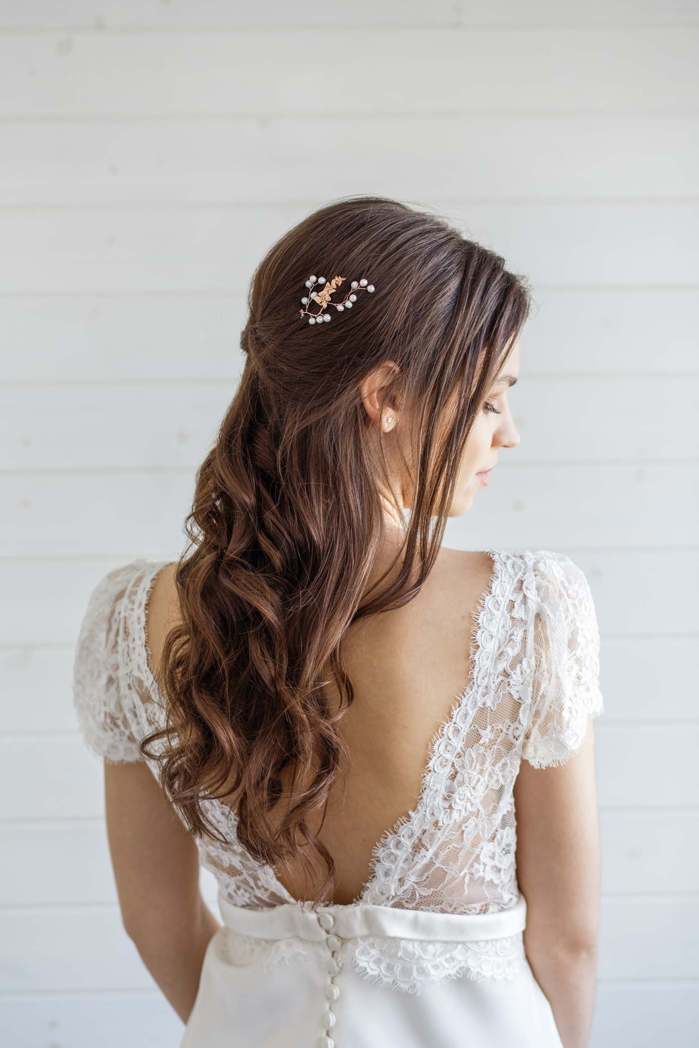 d2dcf7da1bafe Orchid Bridal Hair Pin
